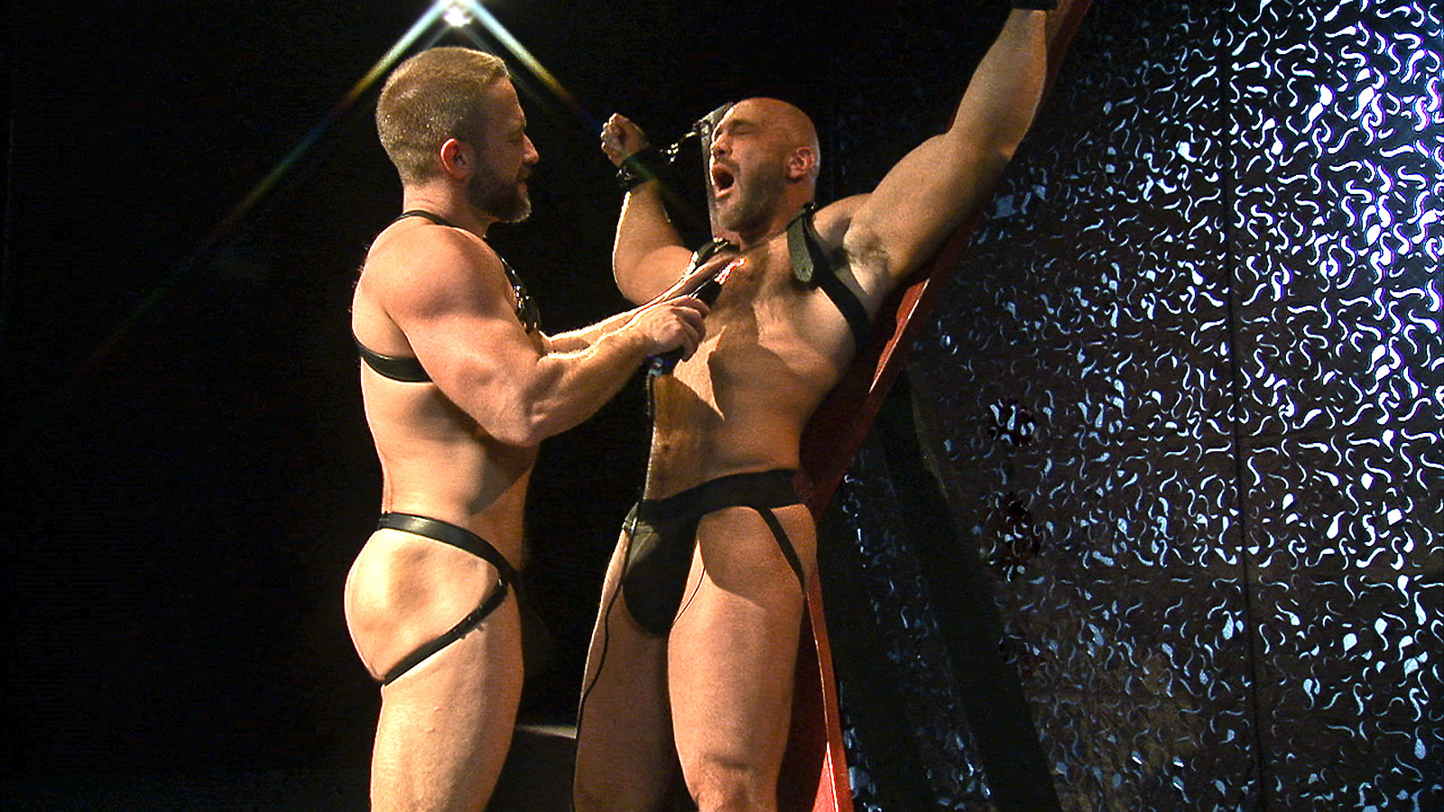 naked boy cross bondage TitanMen Exclusive Loud and Nasty – Dirk Caber and Jesse Jackman